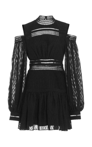 Medium acler black barton full sleeve mini dress