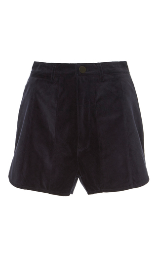Medium acler navy aberdeen cord short