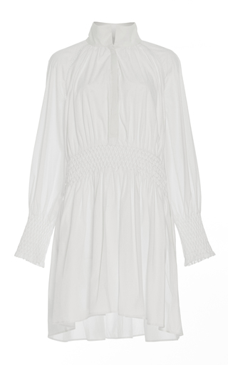 Medium acler white windsor collared shirt dress