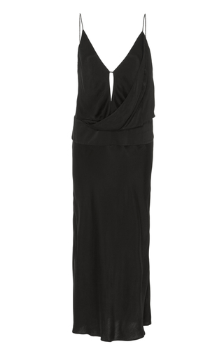 Medium acler black montgomery slip dress