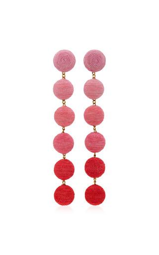 Medium rebecca de ravenel pink six drop ombre earrings