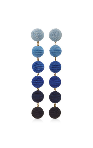 Medium rebecca de ravenel blue six drop ombre earrings
