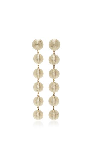Medium rebecca de ravenel gold six drop skinny earrings