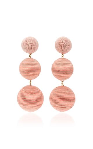 Medium rebecca de ravenel pink classic short earrings