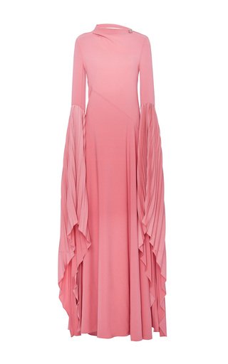 Medium prabal gurung pink bare back gown with fan sleeve