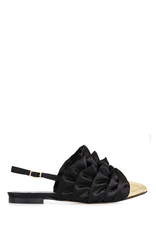 Medium beau coops x romance was born black bird slingback flat