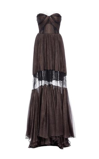Medium maria lucia hohan black the celia lace detail pleated dress
