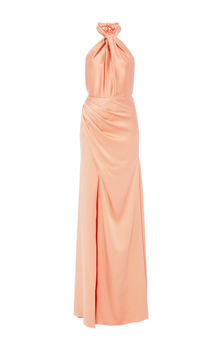 Medium maria lucia hohan orange the phobe halter knot dress
