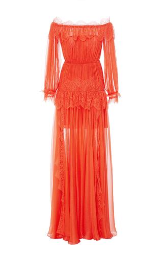 Medium maria lucia hohan red the ralu off the shoulder dress