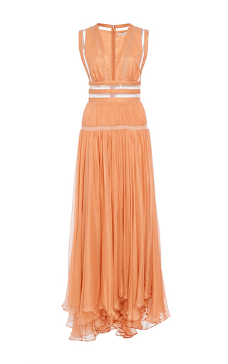 Medium maria lucia hohan orange the tiger illusion cutwork midi dress