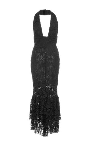 Medium maria lucia hohan black the aquata halter fit and flare dress