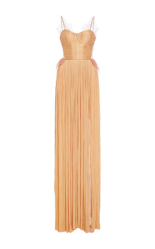 Medium maria lucia hohan orange the erica sweetheart neck maxi dress