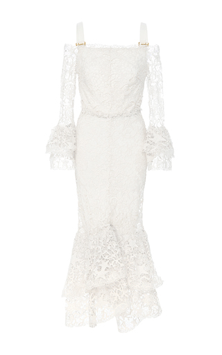 Medium maria lucia hohan white the lilou mermaid dress