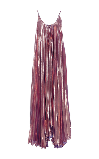 Medium maria lucia hohan metallic the copper pleated dress