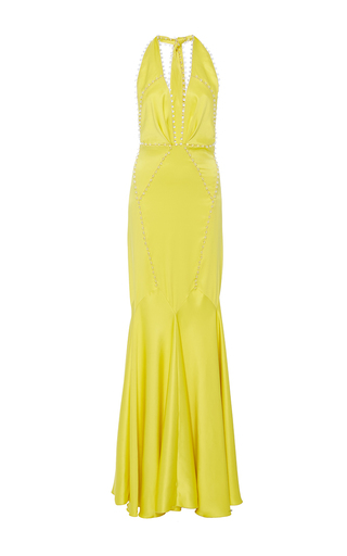 Medium maria lucia hohan yellow the simba fit and flare dress