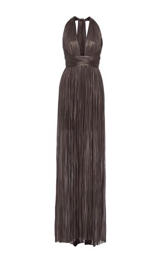 Medium maria lucia hohan black the jane halter neck maxi dress
