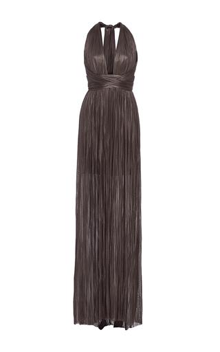 Medium maria lucia hohan black the jane halter neck maxi dress