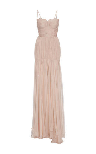 Medium maria lucia hohan pink the marianne scalloped neck dress