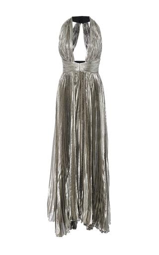 Medium maria lucia hohan silver the adina halter neck midi dress