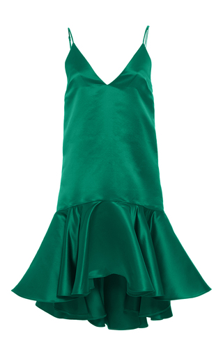 Medium maria lucia hohan green the pumba asymmetrical hem dress