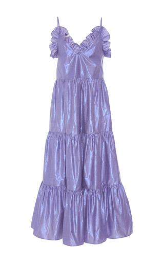 Medium maria lucia hohan purple the milo flounced a line dress