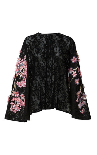 Medium romance was born black cherry blossom blouse
