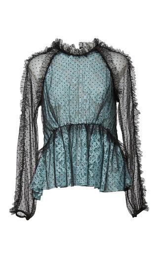 Medium romance was born multi blue moon lace blouse
