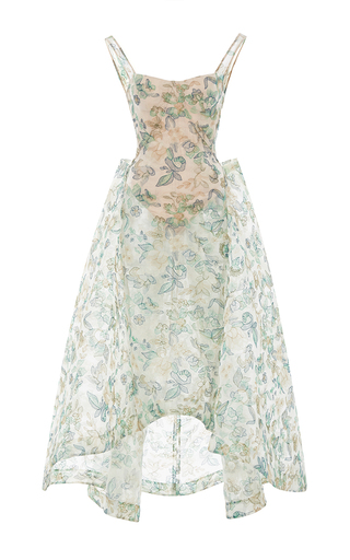 Medium zac posen multi embroidered guipure gown