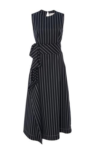Medium carolina herrera stripe sleeveless striped a line dress