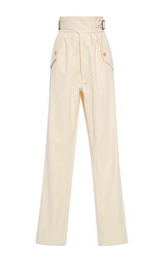 Medium rosie assoulin white safari buckle pants