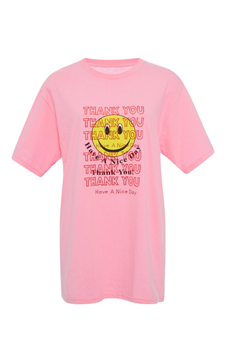 Medium rosie assoulin pink thank you have a nice day cotton tee