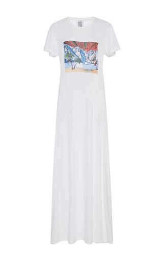 Medium rosie assoulin white impossible landscape tee shirt dress