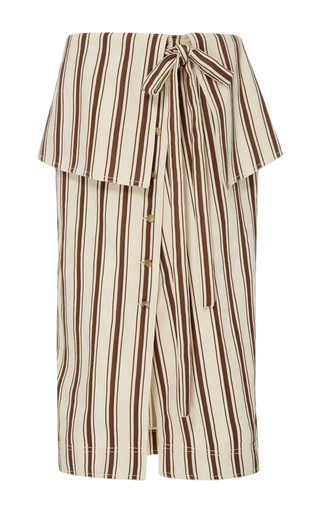Medium rosie assoulin stripe fold over striped skirt