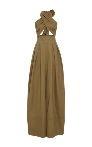 Medium rosie assoulin brown artichoke hearts cotton jumpsuit