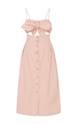 Medium sea pink tie front cutout dress