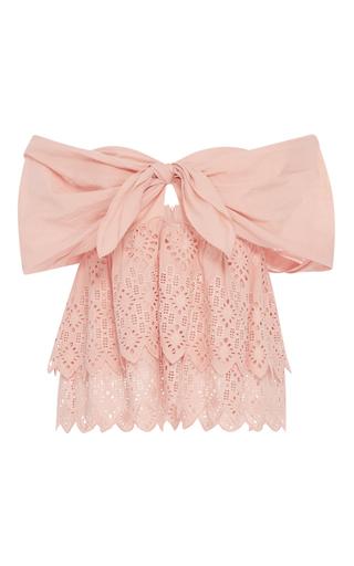 Medium sea pink strapless belle top