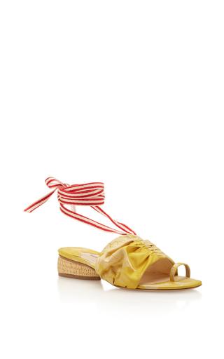 Medium rosie assoulin yellow damask wrap slides