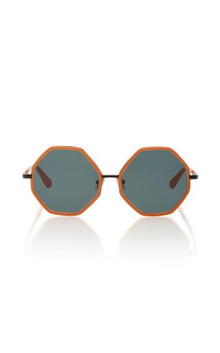 Medium rosie assoulin orange large octagon sunglasses