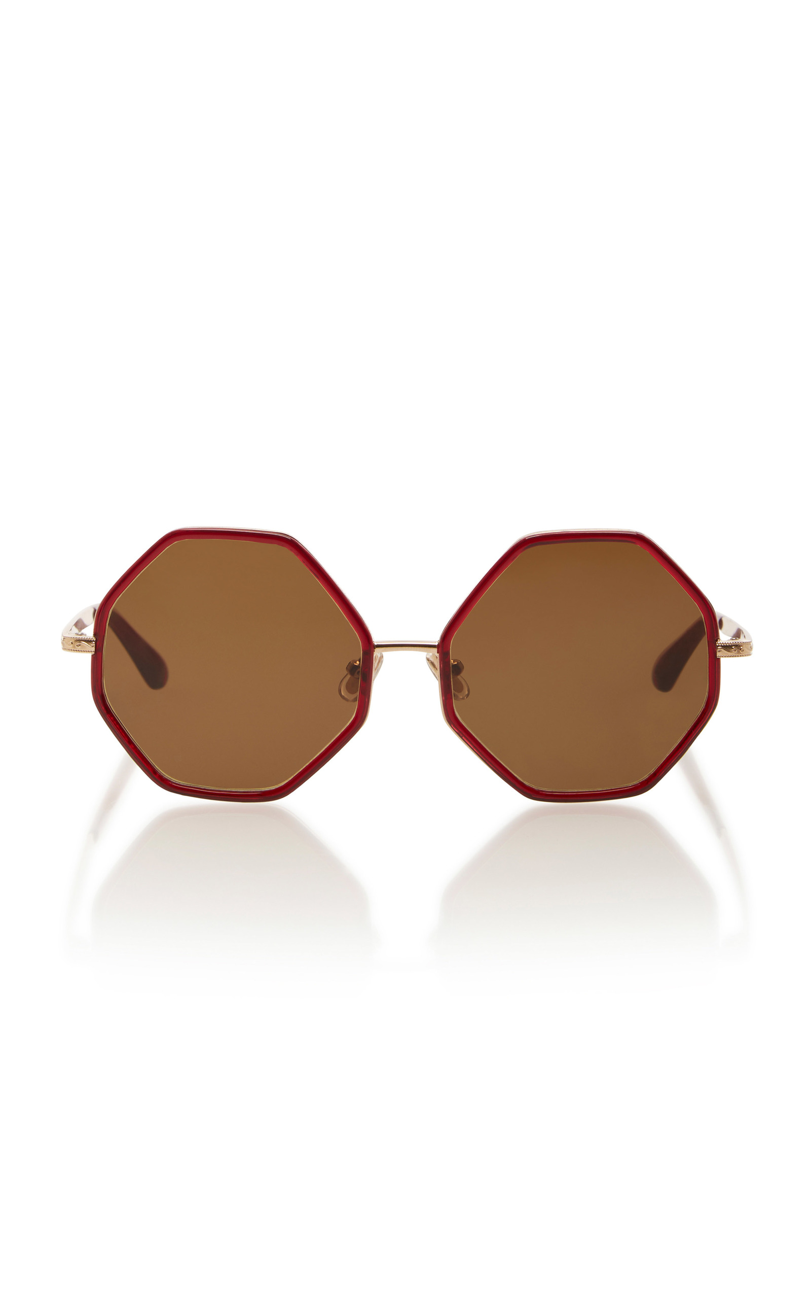 3ea18f77b2 Rosie Assoulin Large Octagon Sunglasses In Burgundy