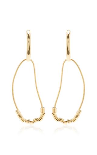 Medium ana khouri gold 18k yellow gold chloe earrings