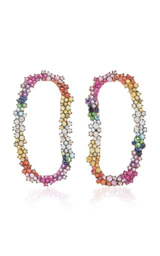 Medium ana khouri multi multicolor mia earrings