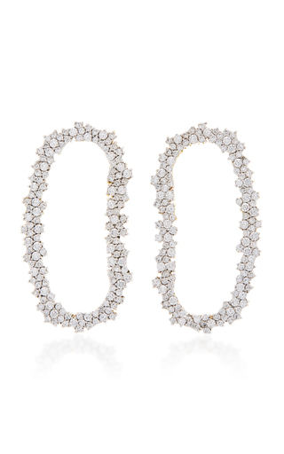 Medium ana khouri gold 18k white gold diamond mia earrings