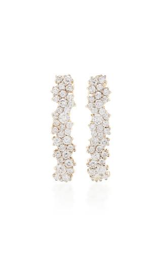 Medium ana khouri gold 18k white gold diamond gioconda earrings