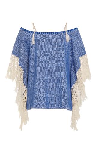 Medium jaline blue karly fringe top