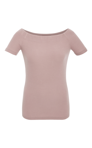 Medium getting back to square one pink off the shoulder jersey top