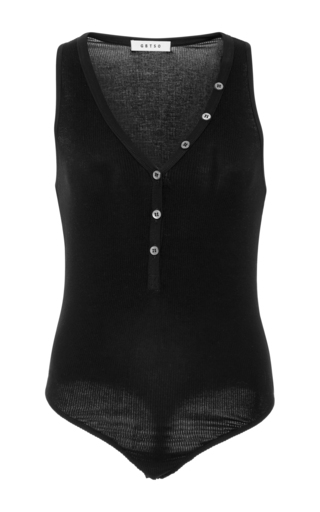 Medium getting back to square one black button front bodysuit
