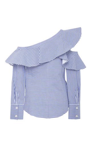 2054ce747ef3 Ruffled Striped Cotton-Poplin Top by Self Portrait | Moda Operandi