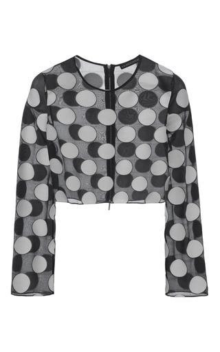 Medium kalmanovich print cropped polka dot blouse
