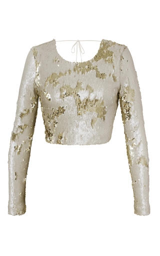 Medium kalmanovich gold cropped sequins top