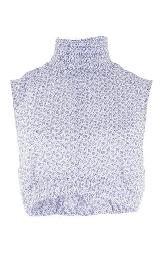 Medium emilia wickstead print the nessa high ruched neck top